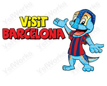 Graphic Design Contest Entry #45 for Barcelona Trip Website Logo with a Character Mascot (read carefully my requirements)