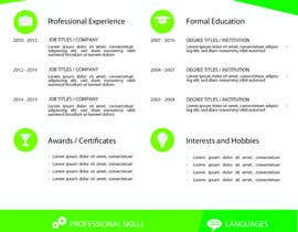 jhosser tarafından Create as many unique Resume templates as you can in a week -- 1 için no 17