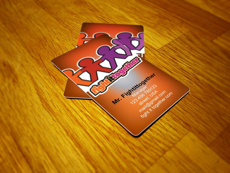 Need a cool business card design that matches our logo için 6 numaralı Yarışma Girdisi