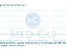 #2 para Med-Cab Business Card Design por Julietaagente07