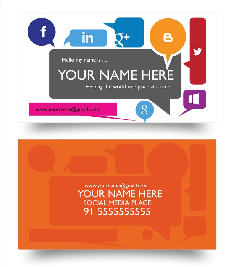 #14 for Design some Business Cards inspired by Social Media by MagicalDesigner