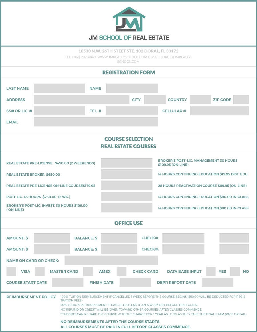 Entry 1 By Timimalik For Design A School Office Form Template