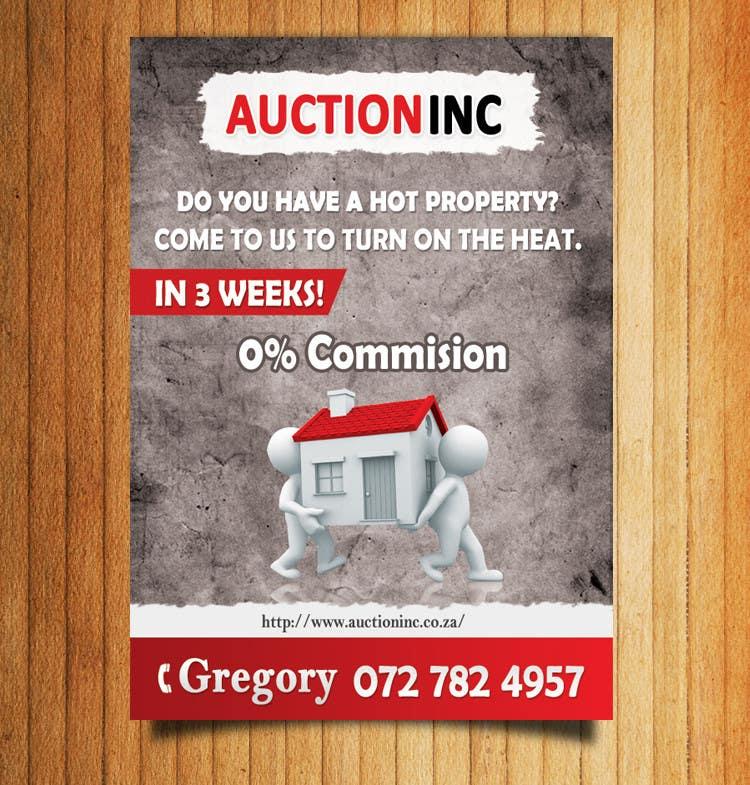 Inscrição nº 62 do Concurso para Design an Advertisement for Auction Company
