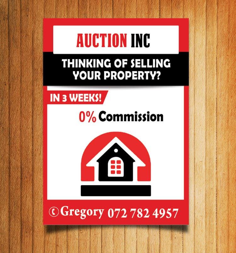 Inscrição nº 70 do Concurso para Design an Advertisement for Auction Company
