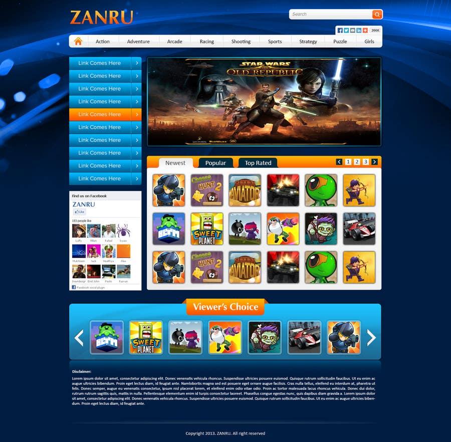 #3 for Design a Mockup for an Online Flash Game Website - Zanru.com by atularora
