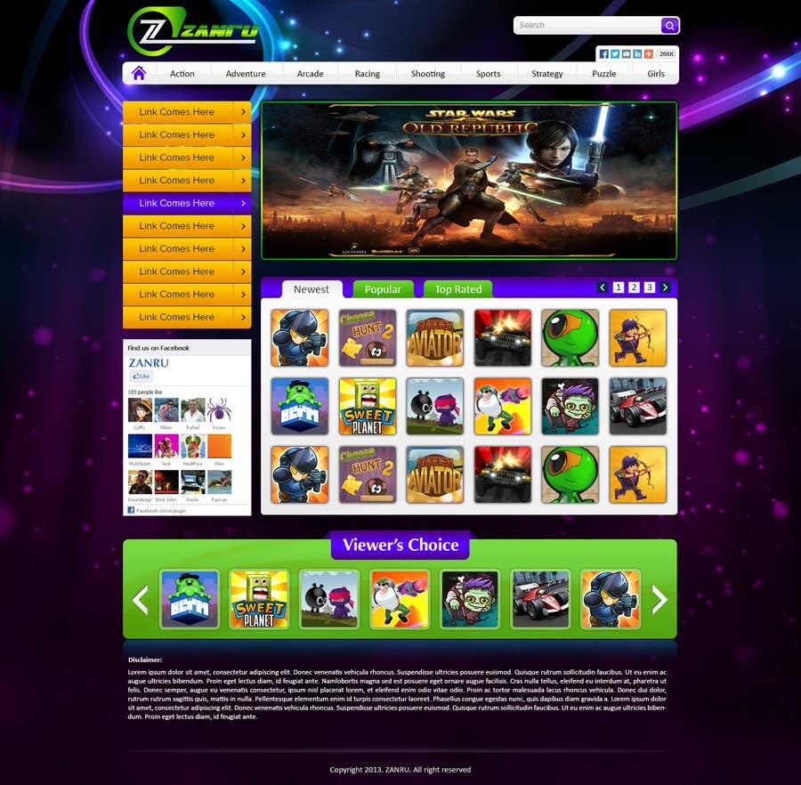 #5 for Design a Mockup for an Online Flash Game Website - Zanru.com by atularora
