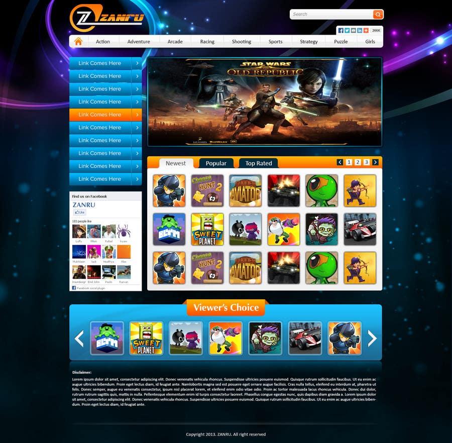 #24 for Design a Mockup for an Online Flash Game Website - Zanru.com by atularora