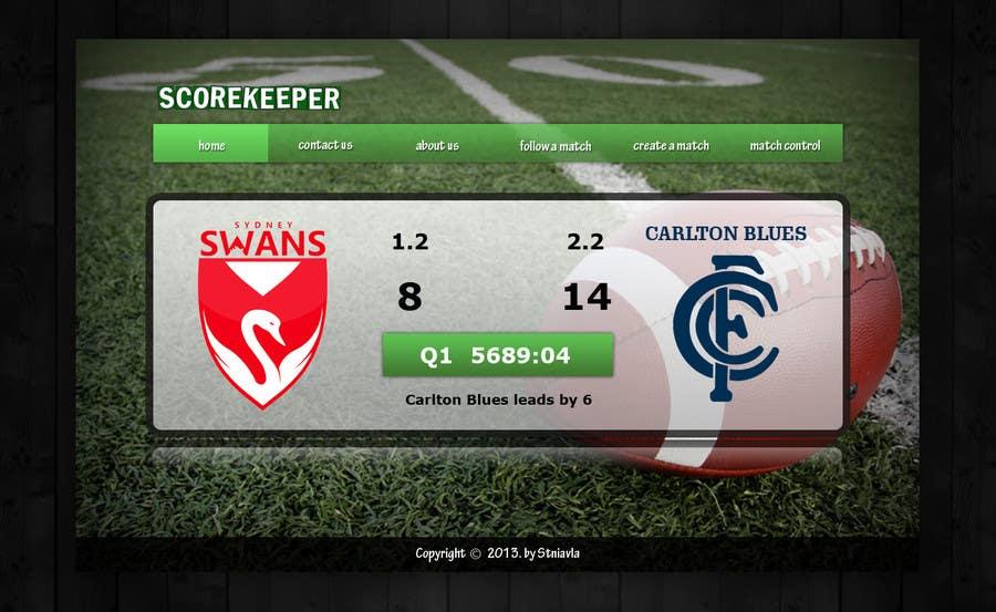 Konkurrenceindlæg #6 for Design a Website Mockup for ScoreKeeper
