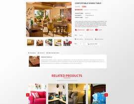 Nro 88 kilpailuun Design a single product page mockup for furniture ecommerce käyttäjältä Makkina