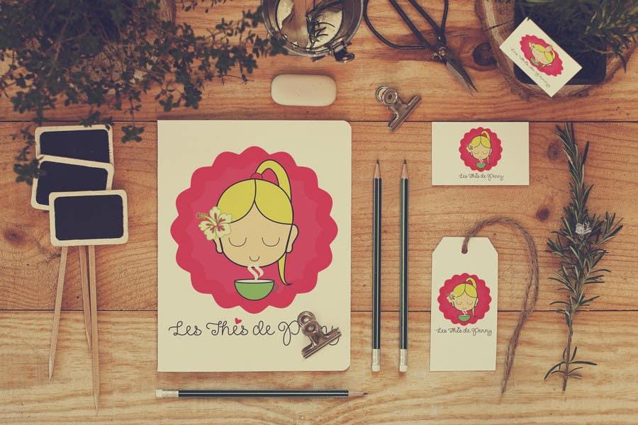 Penyertaan Peraduan #                                        55                                      untuk                                         Logo for a young girl home grown herbal tea compagny (les Thés de Penny)