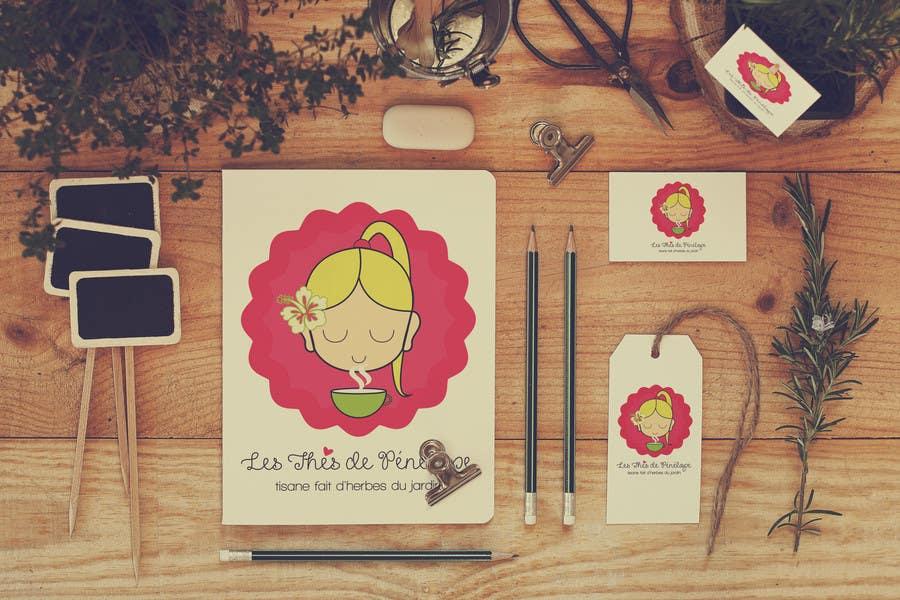 Penyertaan Peraduan #                                        72                                      untuk                                         Logo for a young girl home grown herbal tea compagny (les Thés de Penny)