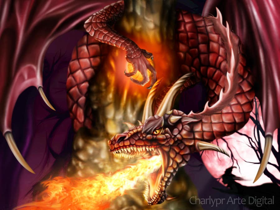 #34 for Awesome Dragon Illustration by Charlypr