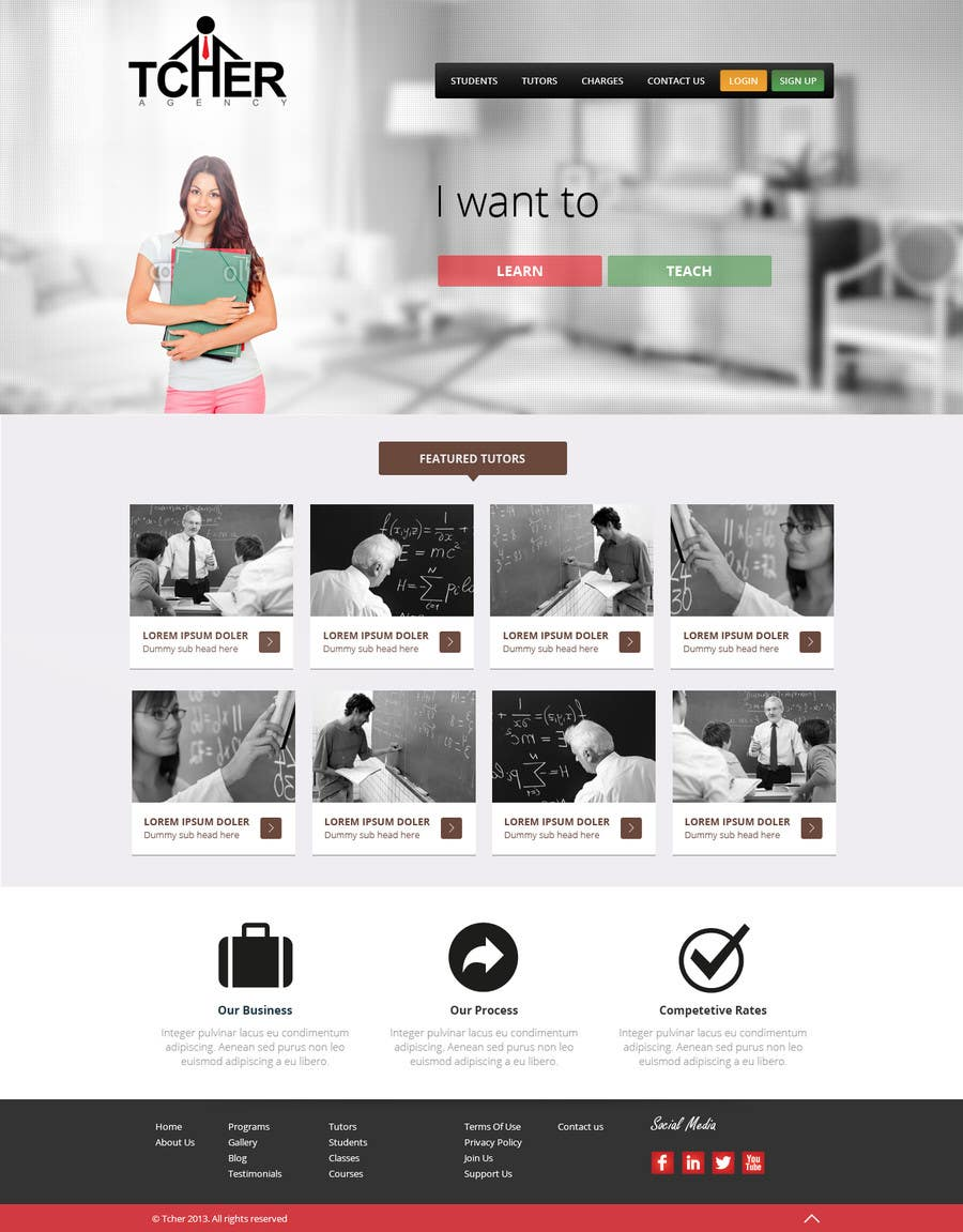 #3 for Graphics Design for Home Page of TCHER Agency Website by Pavithranmm