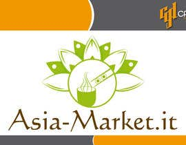 #12 para Design a Logo for our new online-shop of ethnic food Asia-Market.it por CasteloGD