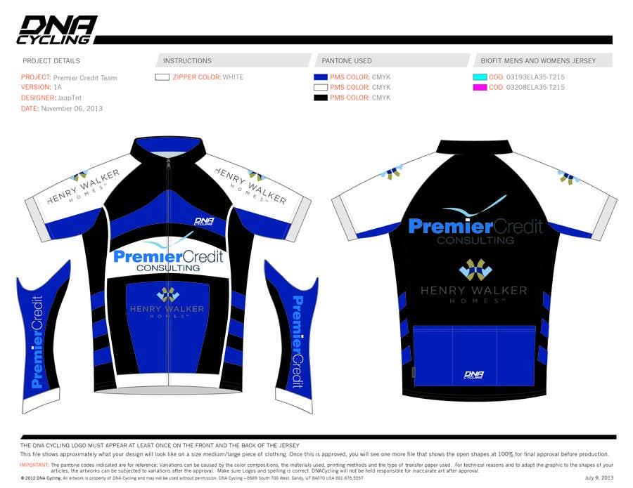Kilpailutyö #4 kilpailussa Full Cycling Kit/Jersey Design