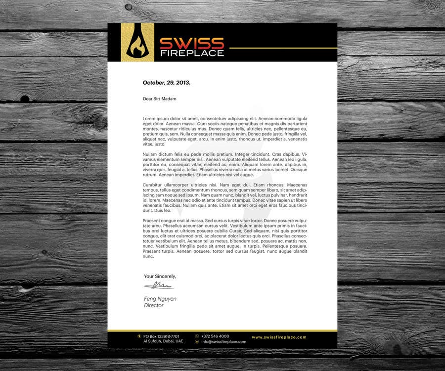 Inscrição nº 29 do Concurso para Letterhead Design (Only a regular A4 Page) for my company