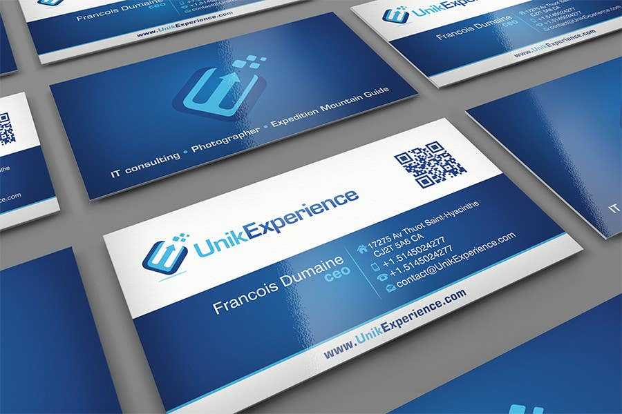 #6 for Design Business Cards for Unik Experience by midget