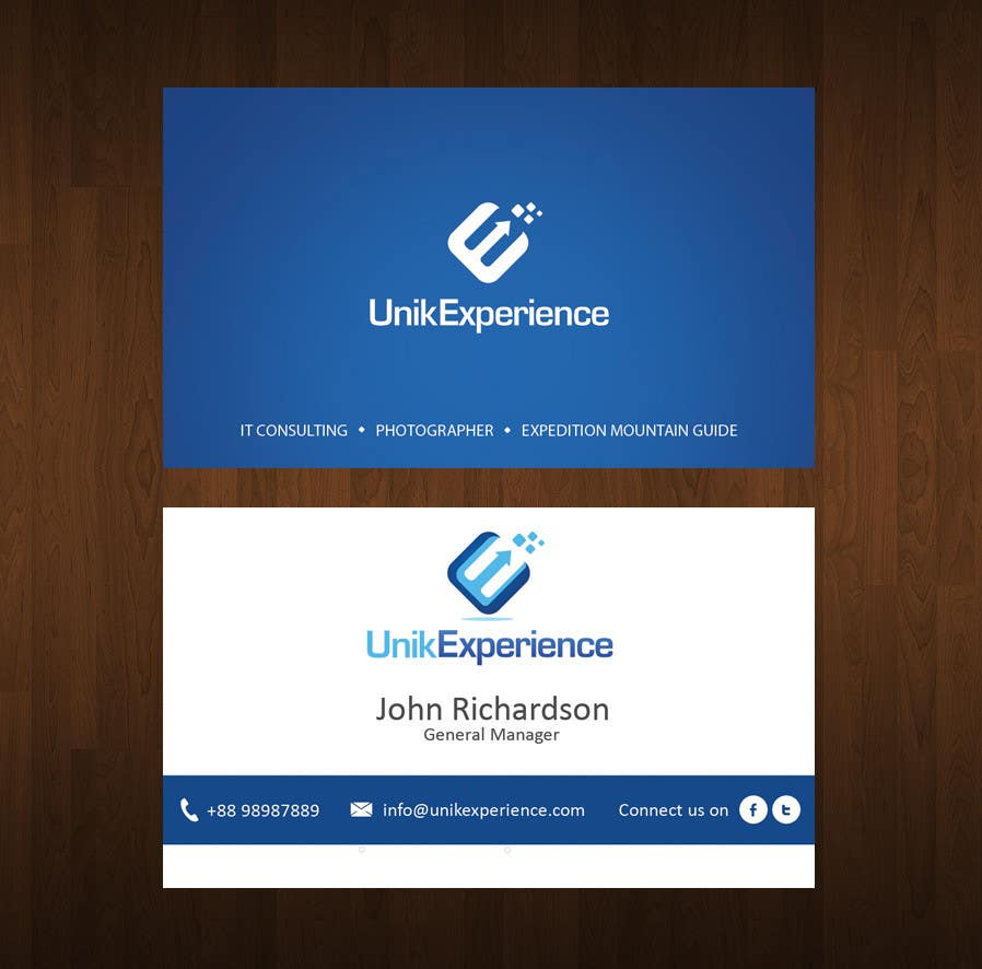 #11 for Design Business Cards for Unik Experience by motivated83