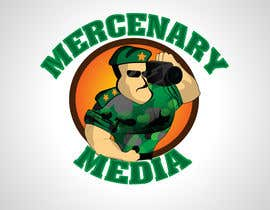 #124 pentru Logo Cartoon Design for Mercenary Media de către BuThamAds