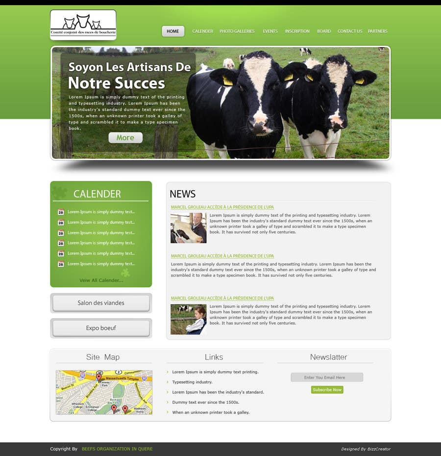 Contest Entry #                                        43                                      for                                         Website Design for Beefs Organization