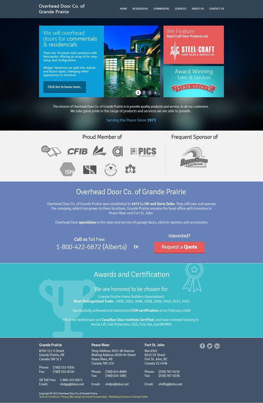 #22 for Design a Website Mockup for www.overheaddoorgp.com by informationaccur