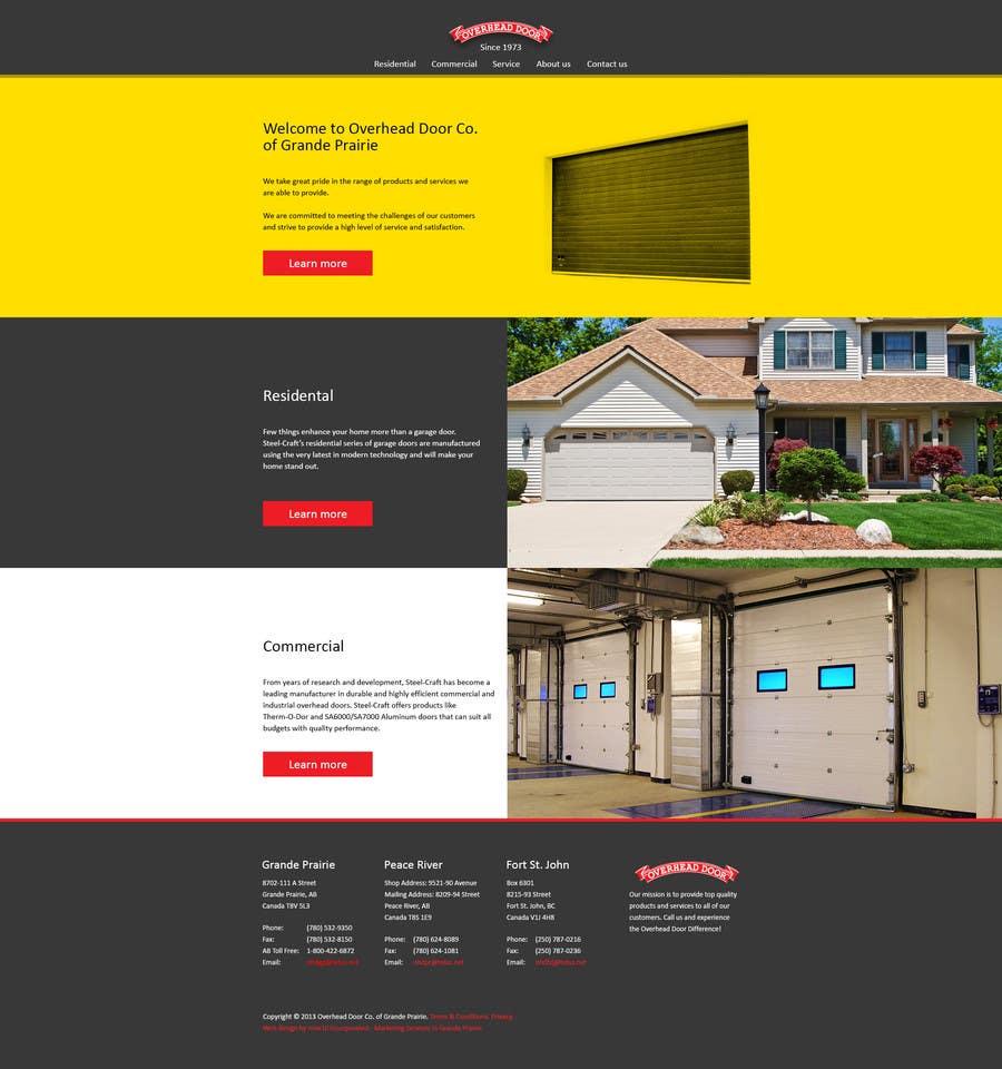 #6 for Design a Website Mockup for www.overheaddoorgp.com by krayt