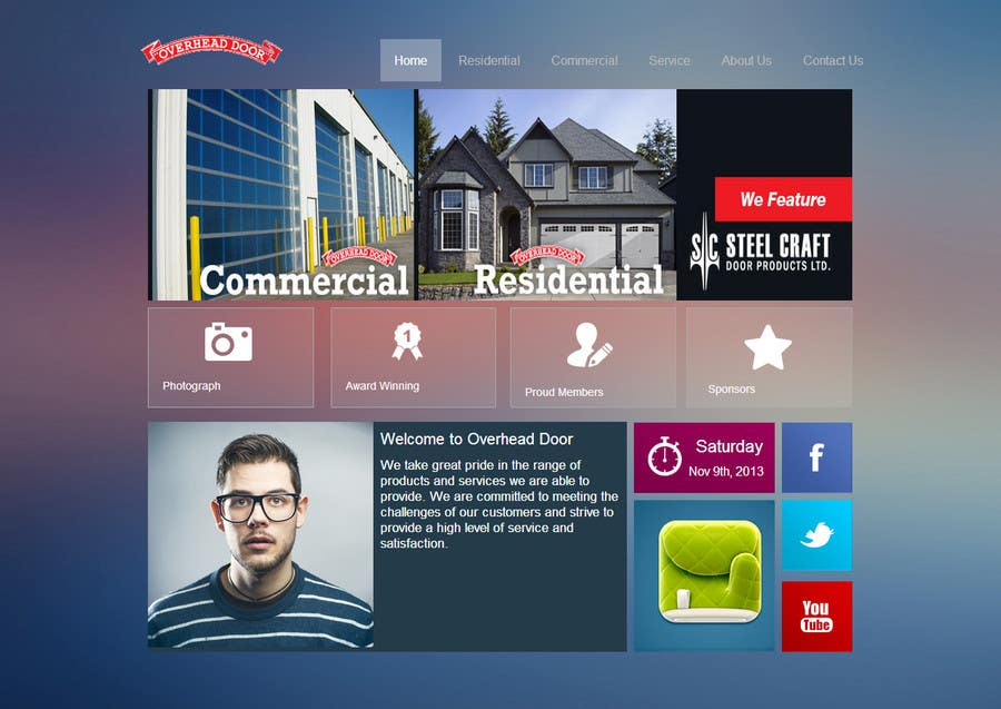 #8 for Design a Website Mockup for www.overheaddoorgp.com by yeshkutty