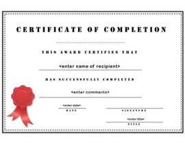#28 for Design a certificate af grapaa