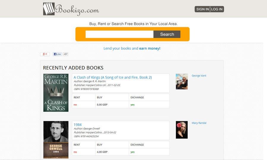 Penyertaan Peraduan #41 untuk Redesign Bookizo.com Homepage