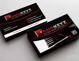 #24 for Design a Business Card for PianoKeyz, an online membership site for piano lessons af linokvarghese