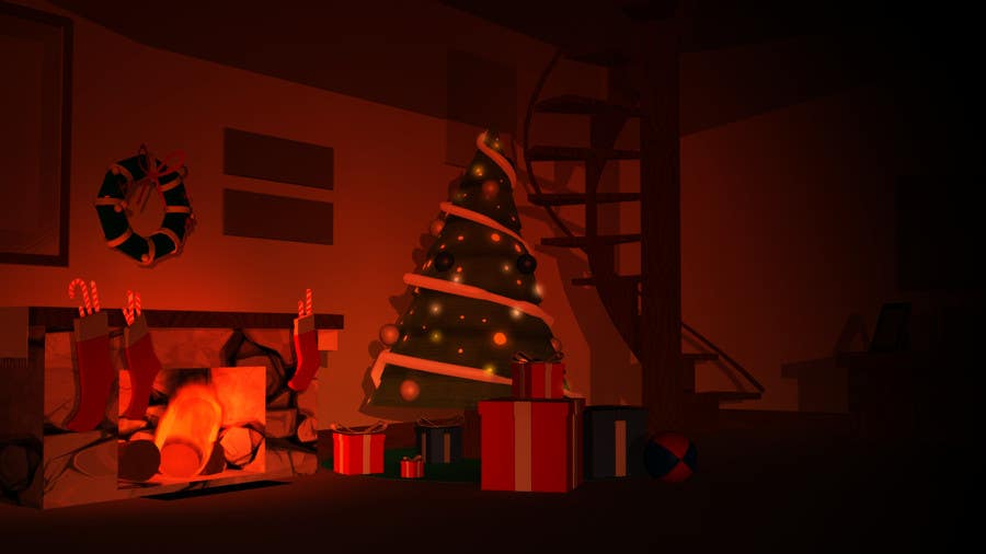 Proposition n°6 du concours Create Animated 3D Christmas Scene - Example Provided
