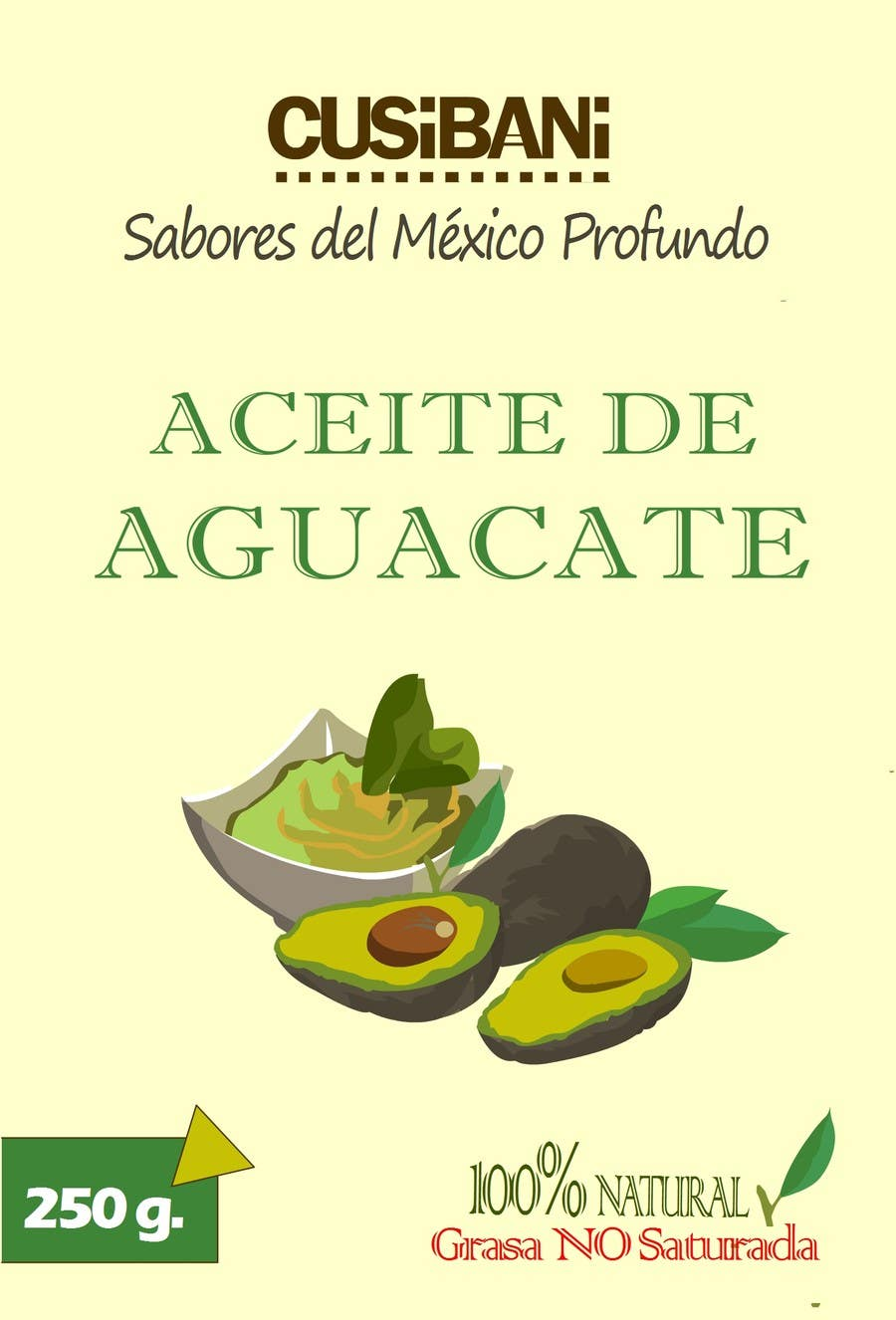 Contest Entry #2 for Etiqueta para botella de aceite de aguacate.
