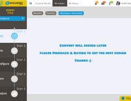heshamsqrat2013 tarafından Design a web application layout mockup - only one page - first of many projects için no 5