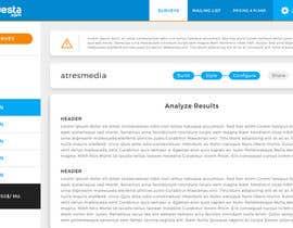 Nro 15 kilpailuun Design a web application layout mockup - only one page - first of many projects käyttäjältä Sofmynd