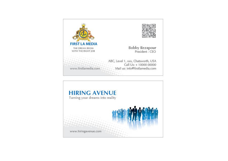 #11 for Design some Business Cards and get hire for more tasks ! by trasele