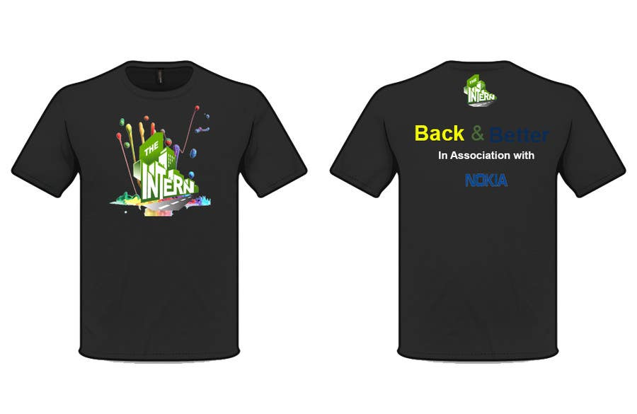 #17 for Design a T-Shirt for THE INTERN BUSINESS REALITY SHOW by cyber3c