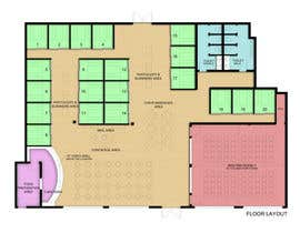 bjandres tarafından Architectural Floorplan Layout for PolarPointe Business Cafe için no 8