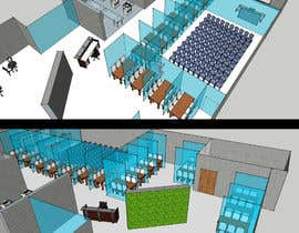 pdr24 tarafından Architectural Floorplan Layout for PolarPointe Business Cafe için no 18