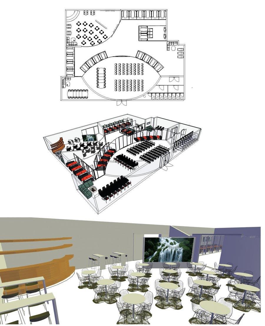 Bài tham dự cuộc thi #                                        7                                      cho                                         Architectural Floorplan Layout for PolarPointe Business Cafe