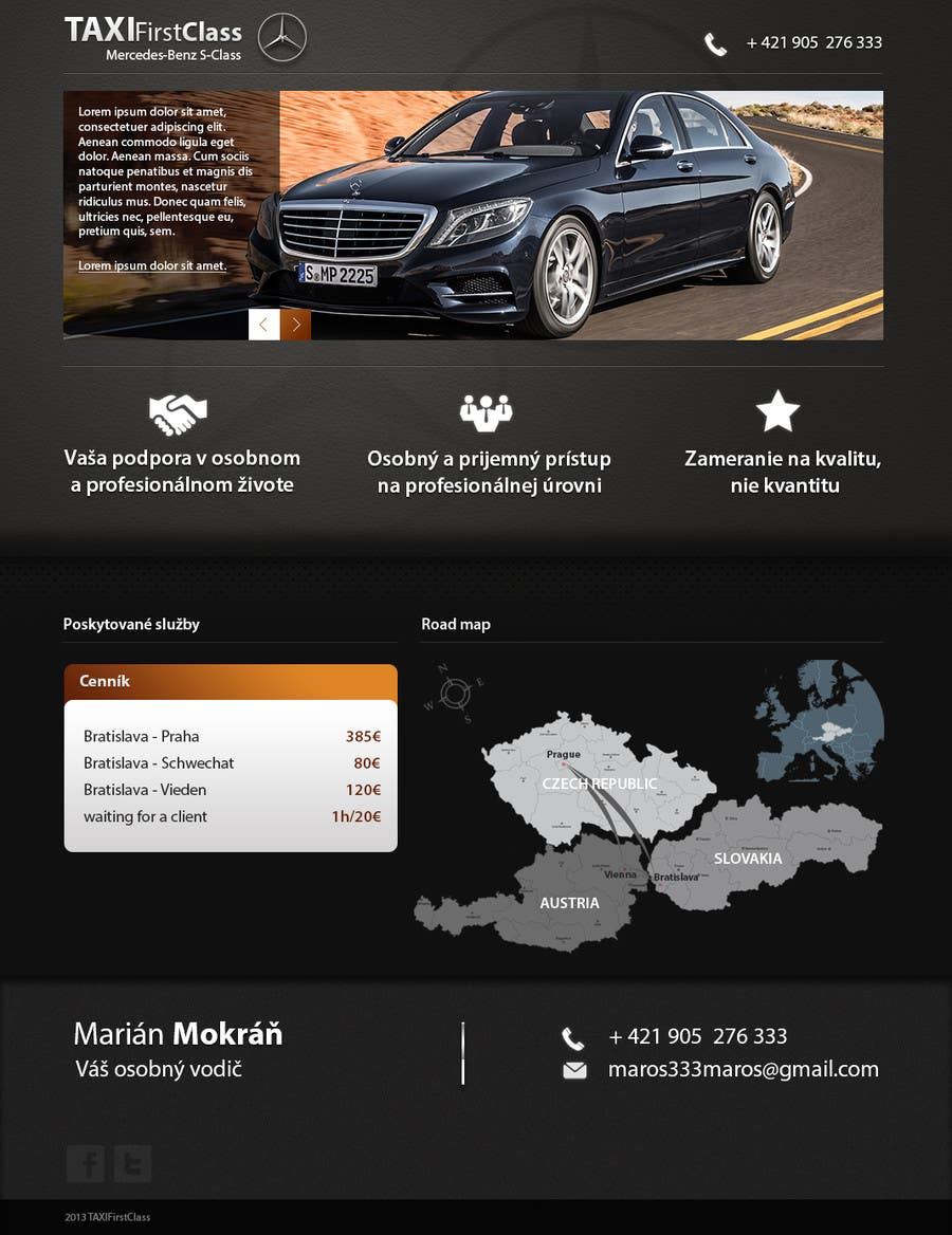 #16 for Desing a single page website according to a business card by zlostur