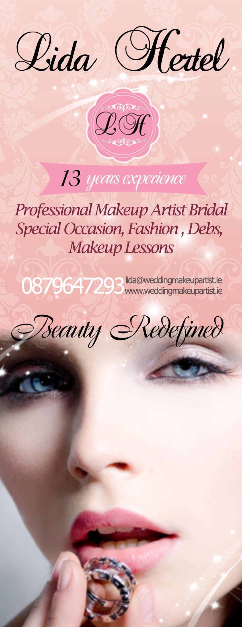 Penyertaan Peraduan #                                        19                                      untuk                                         Design a Pull-Up Banner for Makeup Artist
