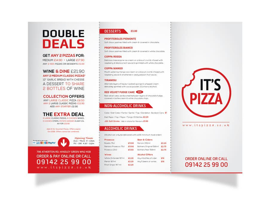 Entry 24 By Brandcreative For Redesign Takeaway Menu