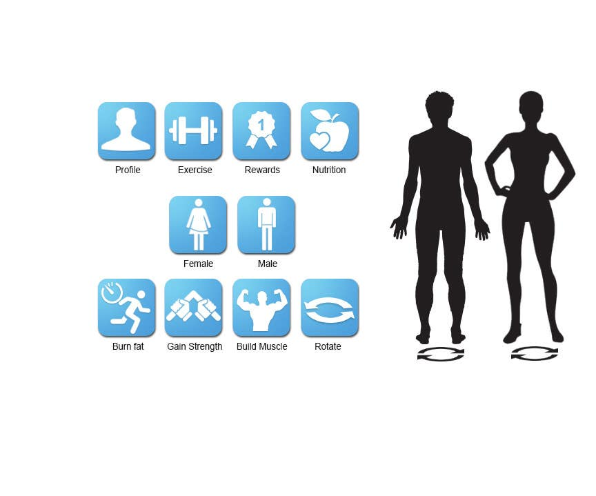 Konkurrenceindlæg #12 for Design some Icons for a fitness app - repost