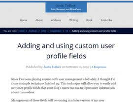 kolindozadrima tarafından Add bio info column to wordpress back-end users page için no 1