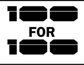 """Nro 48 kilpailuun Logo / Icon / Lapel Pin - """"100 for 100"""" käyttäjältä rahuldas123"""