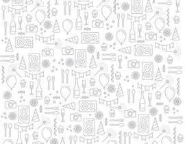 Nro 23 kilpailuun Design a background with party icons käyttäjältä EvgeniyDenisov