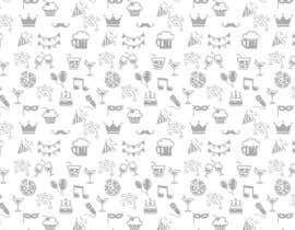 Nro 12 kilpailuun Design a background with party icons käyttäjältä ntandodlodlo