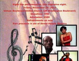 nº 10 pour Design a Flyer for a concert - quick! par goga0010