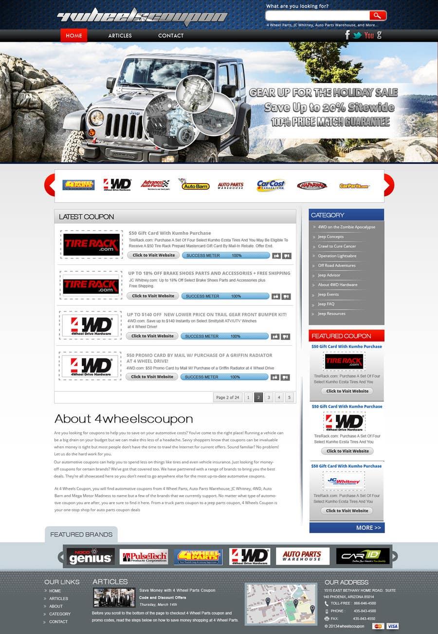 Inscrição nº                                         28                                      do Concurso para                                         Design a Website Mockup for 4WheelsCoupon.com