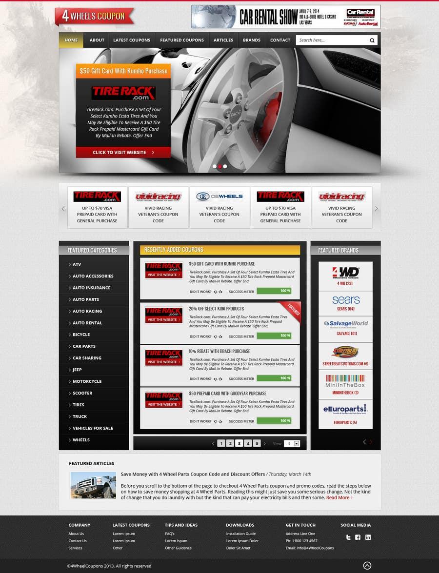 Inscrição nº                                         24                                      do Concurso para                                         Design a Website Mockup for 4WheelsCoupon.com